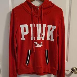 Pink Brand red half zip hoodie